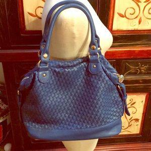 Cobalt larger size shoulder bag by deux lux